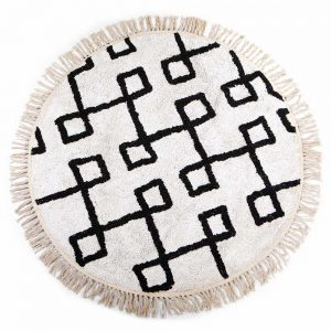 Alicia Round Rug White 120 diameter