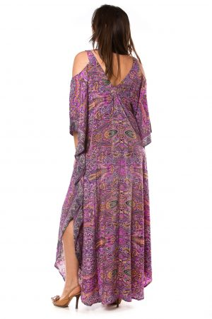 Gabriela Silk Kaftan Dress #1