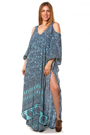 Gabriela Silk Kaftan Dress