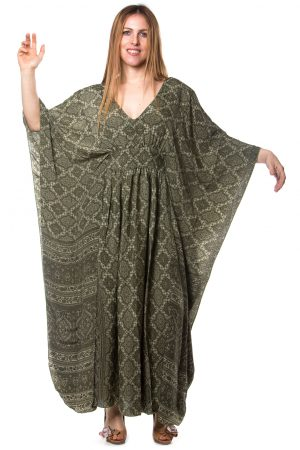 Helen Silk Kaftan Dress
